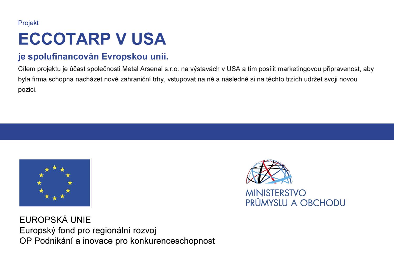 Projekt ECCOTARP v USA je spolufinancován Evropskou unií